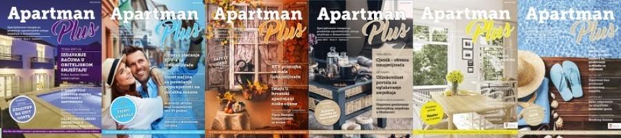 """Specijalizirani časopis za vlasnike  apartmana, soba, kuća za odmor """"APARTMAN PLUS"""""""